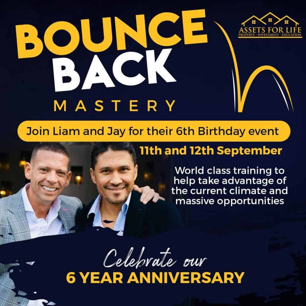 Assets For Life Celebrates 6-Year Anniversary - bounce back mastery